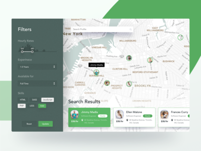 Search & Filters | Talent Finer Web