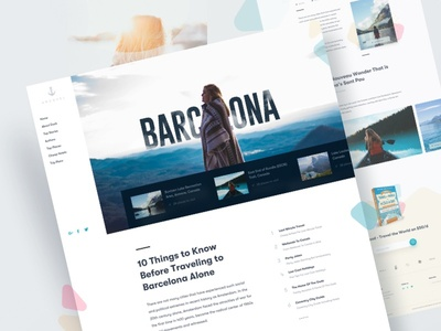 Travel Blog | Website Design 2018 landing page design news travel blog minimal design clean website