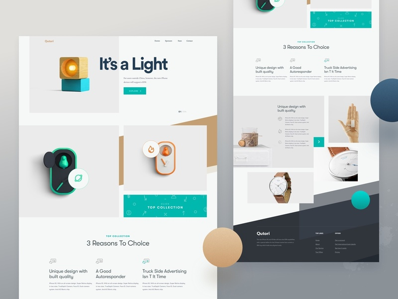 Creative Website Design For 2019 e-commerce product shop ui clean design unique design creative design creative website website design