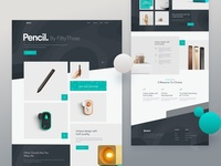 Pencil Product Landing Page Web Design 2018