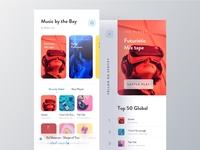 Futuristic Music App