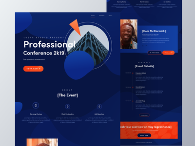 Event Homepage web design website homepage colorful conference event homepage landing page