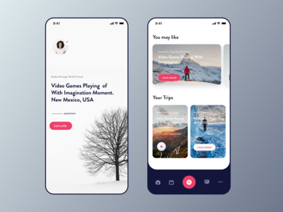 Travel Blog iOS App UI