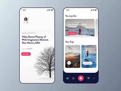 Travel Blog iOS App UI travel type post reading list article blog trip planner traveling