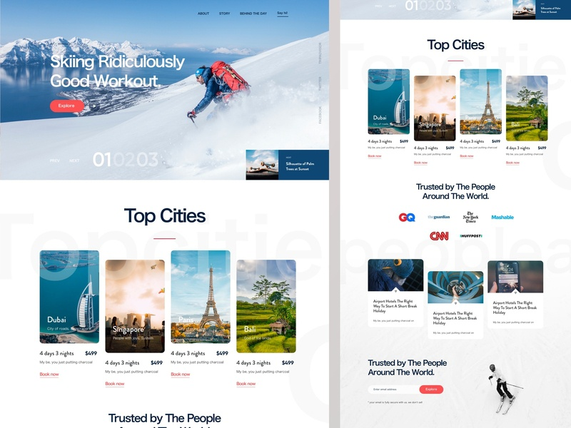 Skiing | Winter Sports Websites Design 20 10 top raihan luova 2019 best website sports travel city web design winter snow skiing
