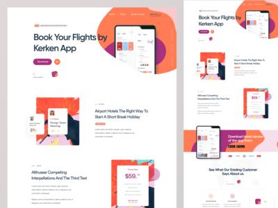 Flight Booking App Landing Page