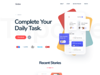 Mobile app landing page designv2 2x