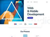 Agency homepage design 2x