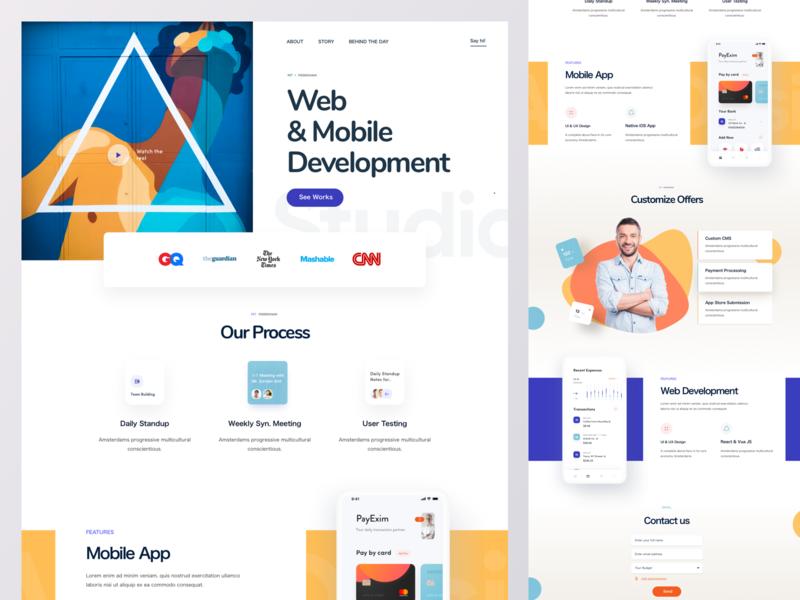 Web Agency Homepage Design designer ui website web agency company website corporate development portfolio ad firm company software development firm digital agency agency web