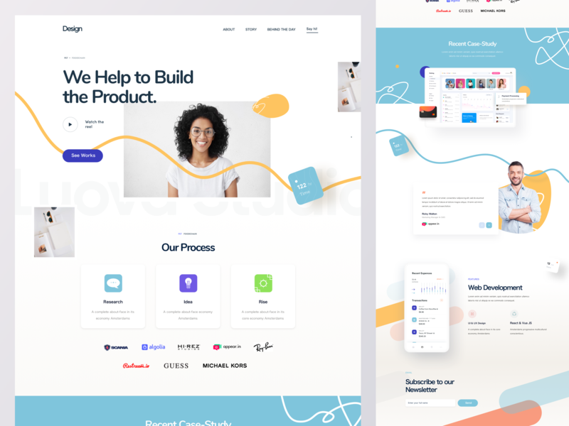 Sass Landing Page collect leads leads marketing website web app digital design agency luova homepage house land book web design 2019 web ui landing page design sass
