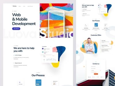 Digital Agency Homepage Design