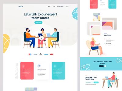 Support Web Homepage V2 featurs cta marketing site landing page homepage illustration web website design web ui web design help support