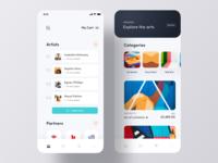 Art Exhibition iOS App Concept