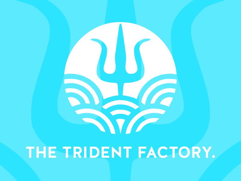 The trident factory identity logo personal design
