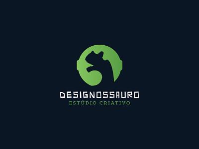Logo idea for creative studio creative studio green dinosaur design logo