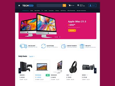 Techshop iran tech sketch ux ui online shop shop