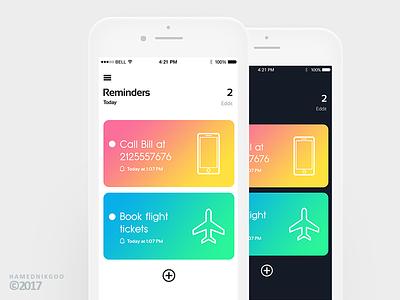 Reminders (Ui/Ux Design) ios ui app reminders