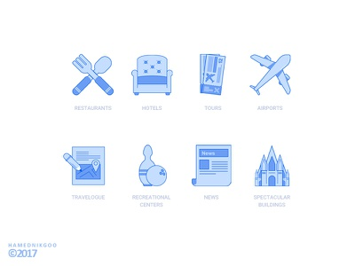 Travel icon iconset minimal icon travel