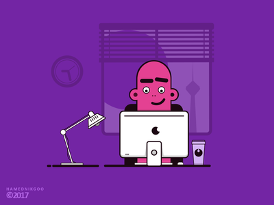 Work Time vector room design time work