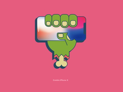 Zombie Iphone X vector design ios apple iphone10 iphonex iphone zombie