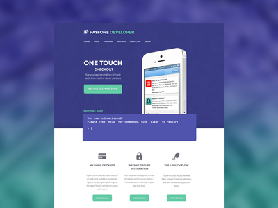 Landing Page for Payfone
