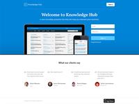 Knowledge Hub Langing Page