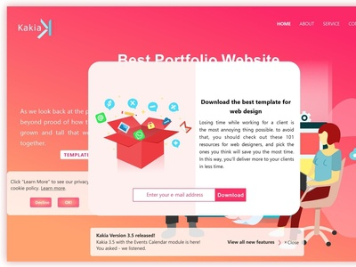 Download template from Kakia