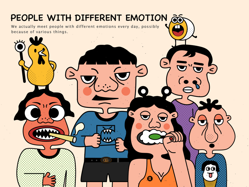 People With Different Emotions
