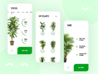 Happy Plants concept figmadesign plant ux app mobile