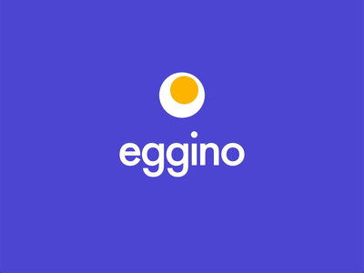 Eggino lettering type gif app icon animation logo mobile web typography branding ui sketch minimal vector simple concept flat design clean