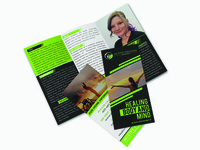 Trifold Brochure  For Active Healing Business