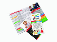 Trifold Brochure For  Building Block Childcare Center