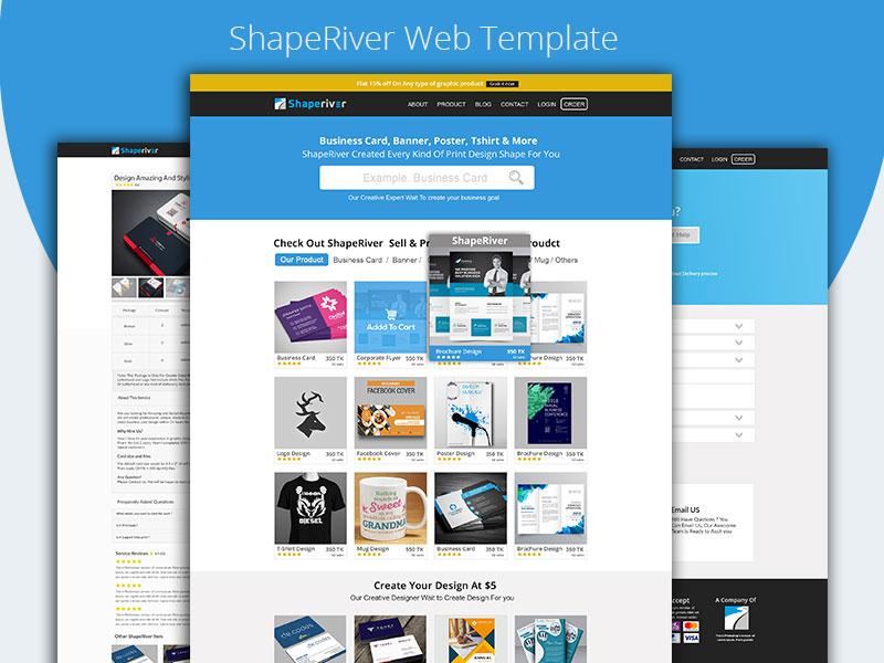 ShapeRiver Web Template rabbim666 dribble ui  ux design ui ux user ui  ux ui psd web template shaperiver
