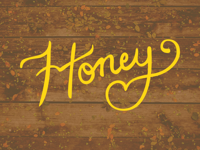 Honey lettering illustration type label color old-fashioned classic