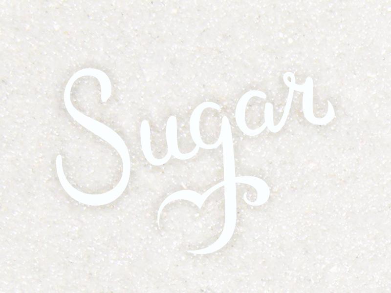 Sugar lettering illustration vector type logotype