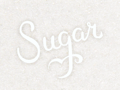 Sugar lettering illustration vector type logotype