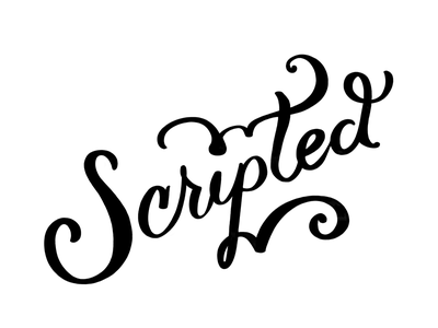 Scripted type typography lettering