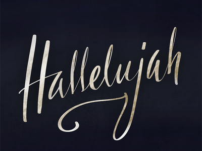 Hallelujah calligraphy typography lettering