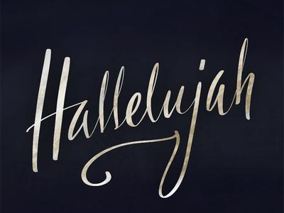 Hallelujah calligraphy typography lettering