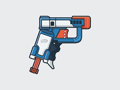 Nerf Gun pistol toys fun nerf gun dart gun dart gun nerf illustration