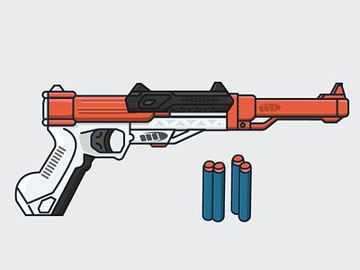 Nerf Sharpfire pistol toy fun dart gun dart gun nerf illustration