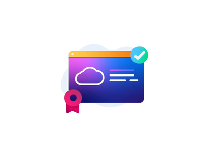 Cloud Tech cloud learning certificates update upgrade technology spot illustrations illustration icons cloud