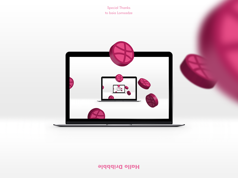 Hello Dribbble! firts post hallo design infinity screen debut dribbble apple devices