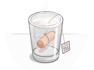 Hot Dog Tea hotdogs food and beverage fun gross adobe illustrator illustration vector