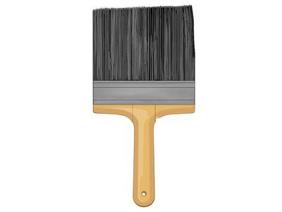 Big Paint Brush vintage paint adobe illustrator illustration vector paint brush