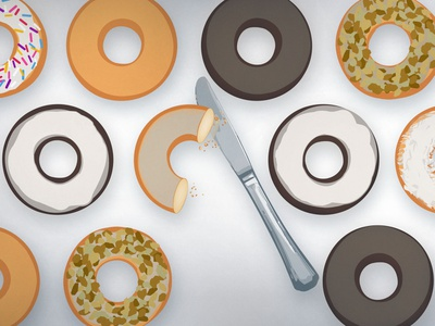 Washtenaw Donuts food and beverage illustration vector adobe illustrator donuts