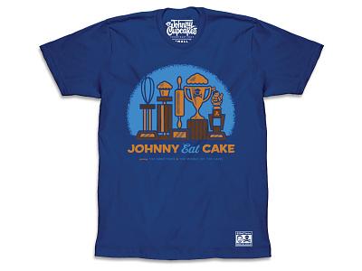 Johnny Cupcake — Johnny Eat Cake shirt t-shirt music design illustration shirt