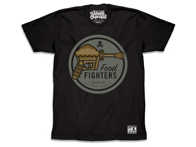 Johnny Cupcakes — Food Fighters t-shirt design johnny cupcakes illustration foo fighters music tshirt