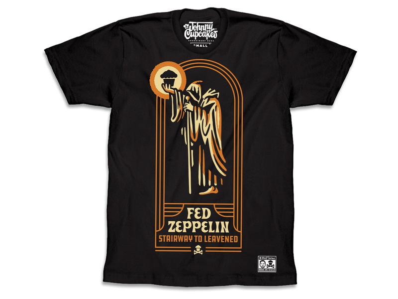 Johnny Cupcakes — Fed Zeppelin johnny cupcakes design illustration t-shirts music t-shirt