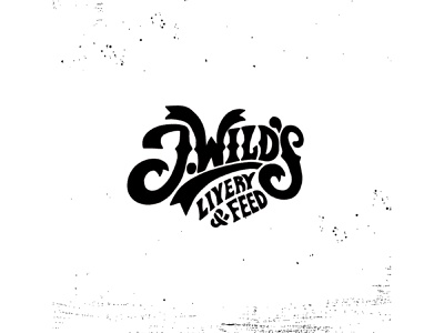 J Wilds logo bbq organic hand-lettering branding restaurant logo design
